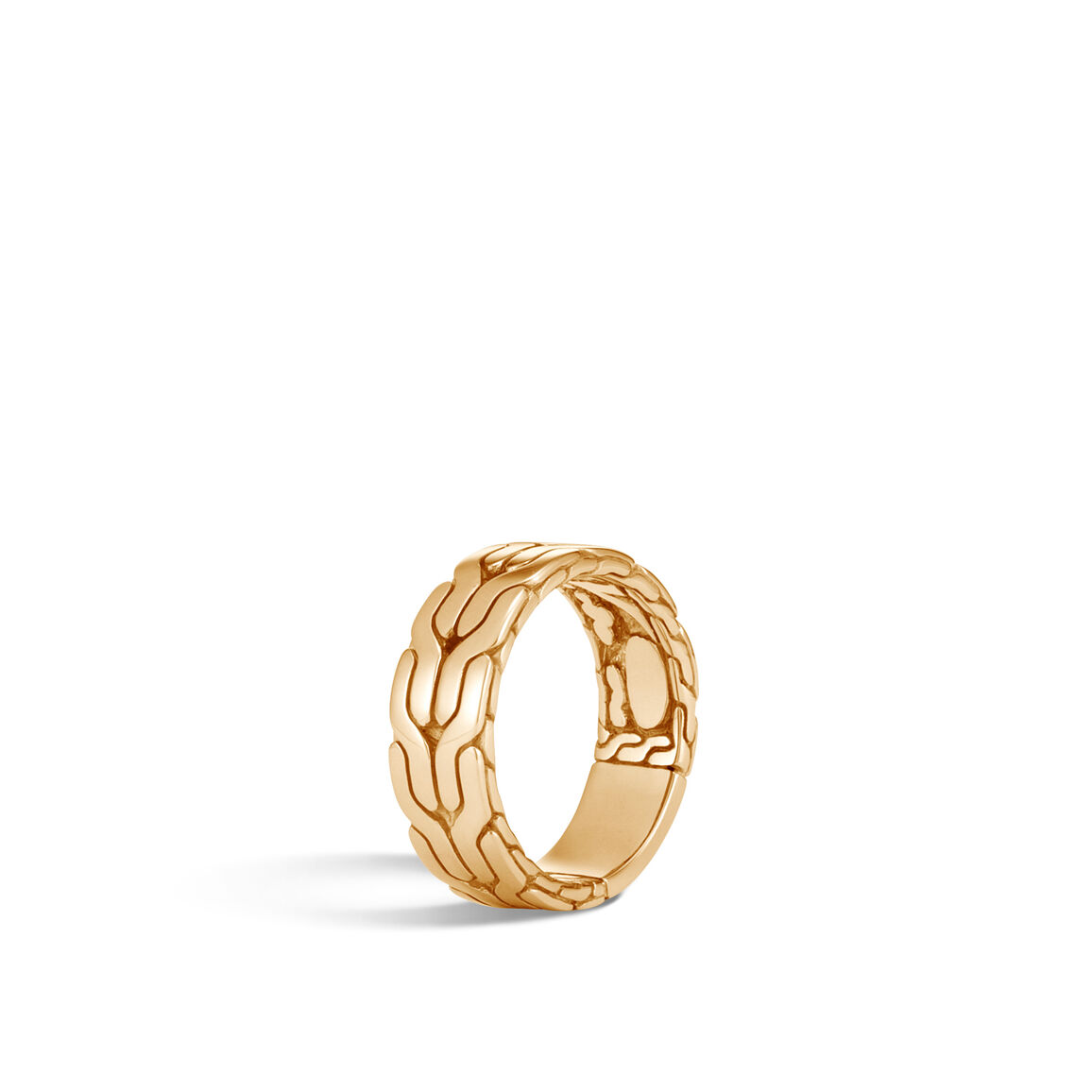 Classic Chain 8MM Band Ring in 18K Gold