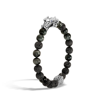 Legends Naga Bead Bracelet in Silver with 8MM Gemstone
