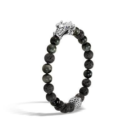 Legends Naga Bead Bracelet in Silver with 8MM Gemstone