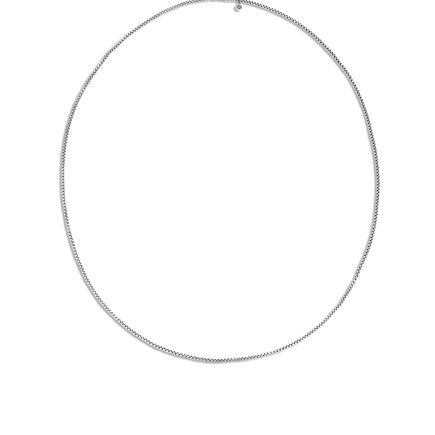 2.6MM Box Chain Necklace in Silver