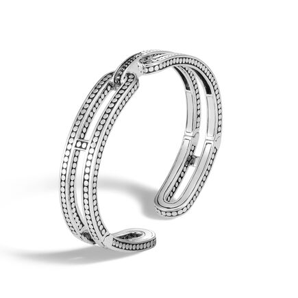 Dot 9.5MM Kick Cuff in Silver with Gemstone