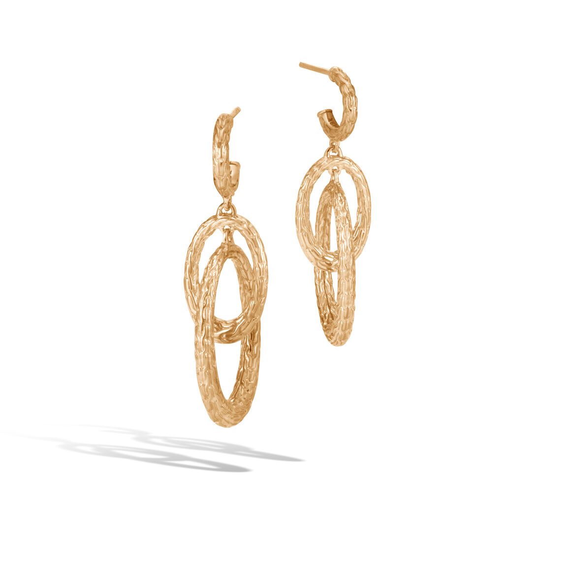 Classic Chain Drop Earring in18K Gold