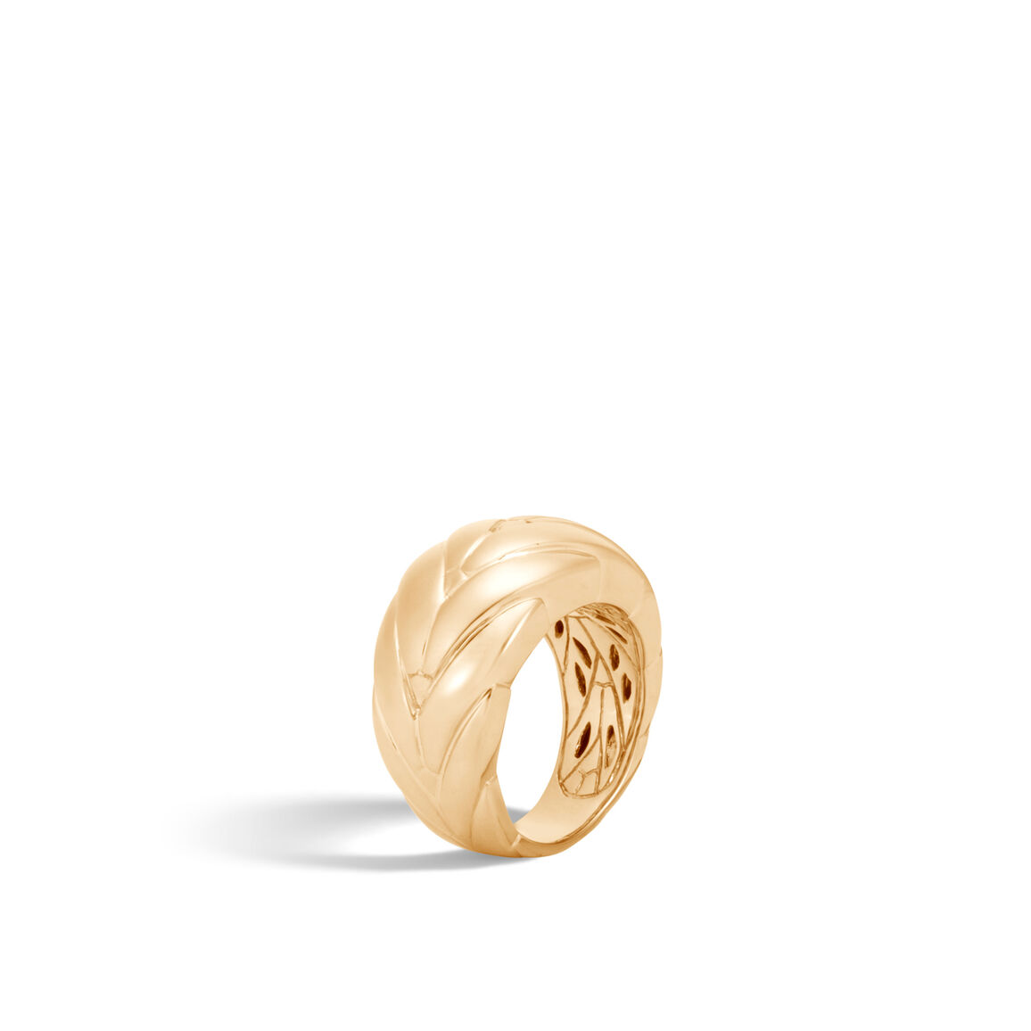 Modern Chain 12.5MM Ring in 18K Gold