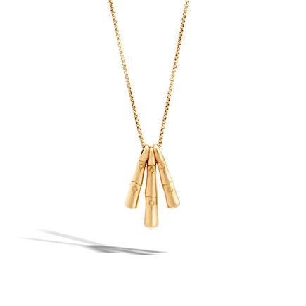 Bamboo Pendant in 18K Gold