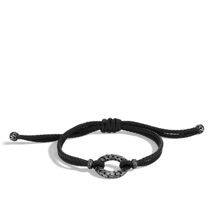 Classic Chain Pull Through Bracelet in Blackened Silver