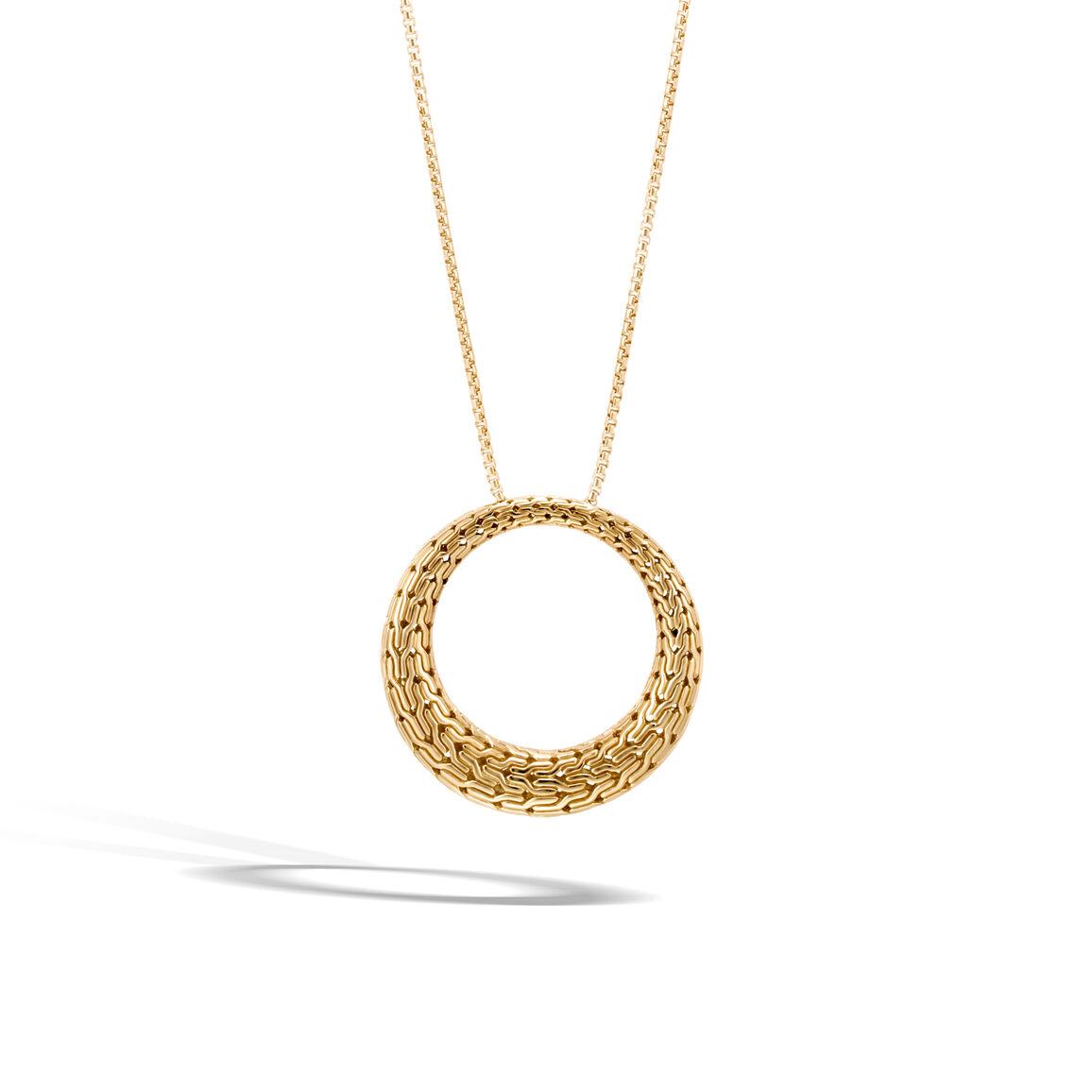 Classic Chain Graduated Pendant Necklace in 18K Gold