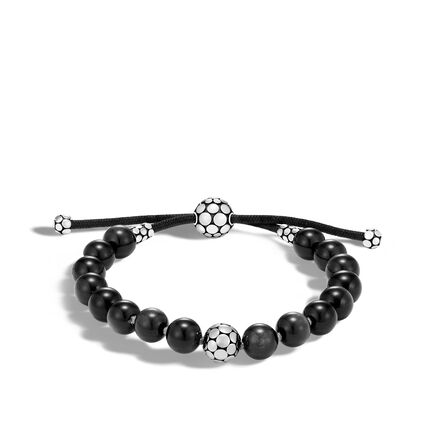 Dot Pull Through Bracelet in Silver with 8MM Gemstone