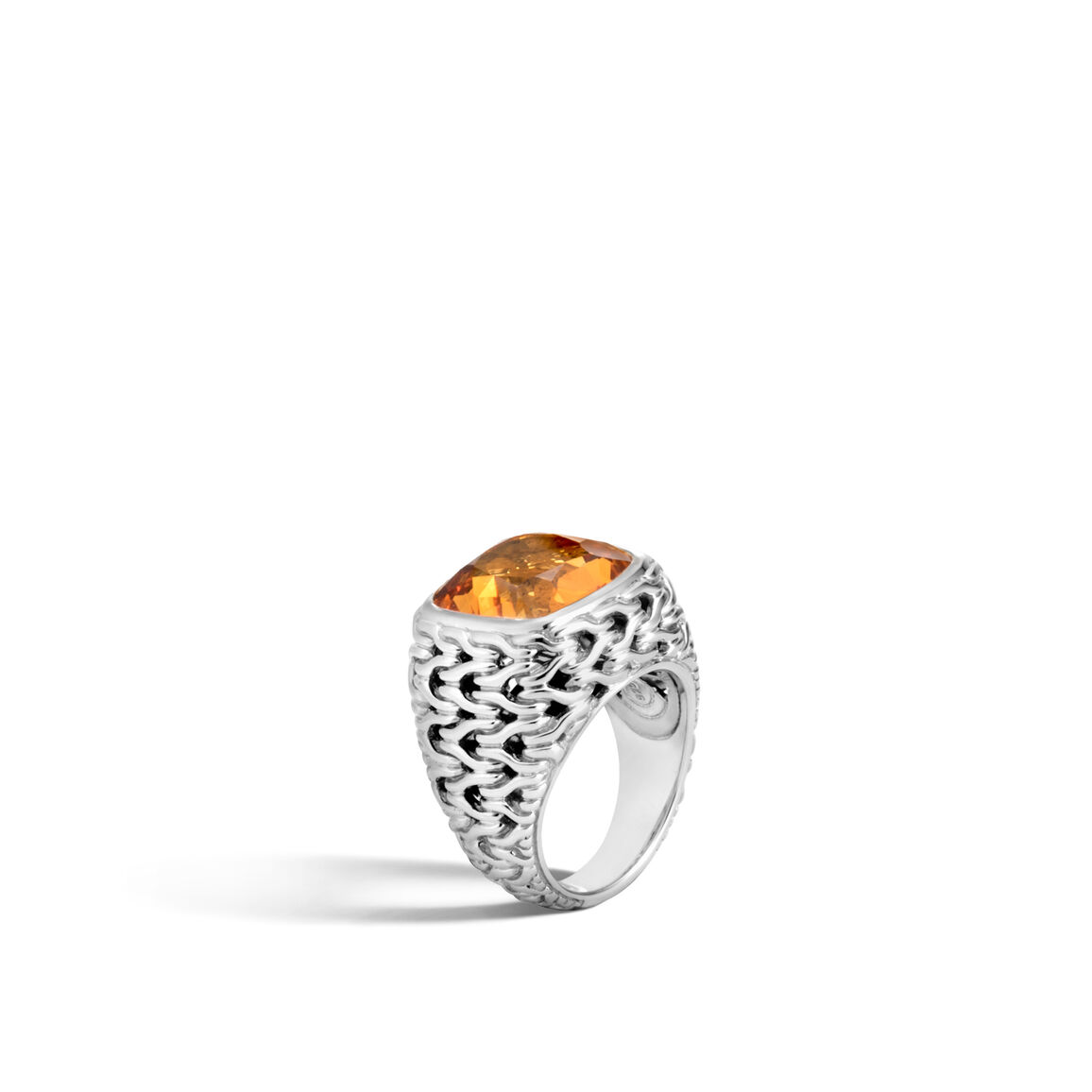 Classic Chain Magic Cut Ring in Silver with 14MM Gemstone