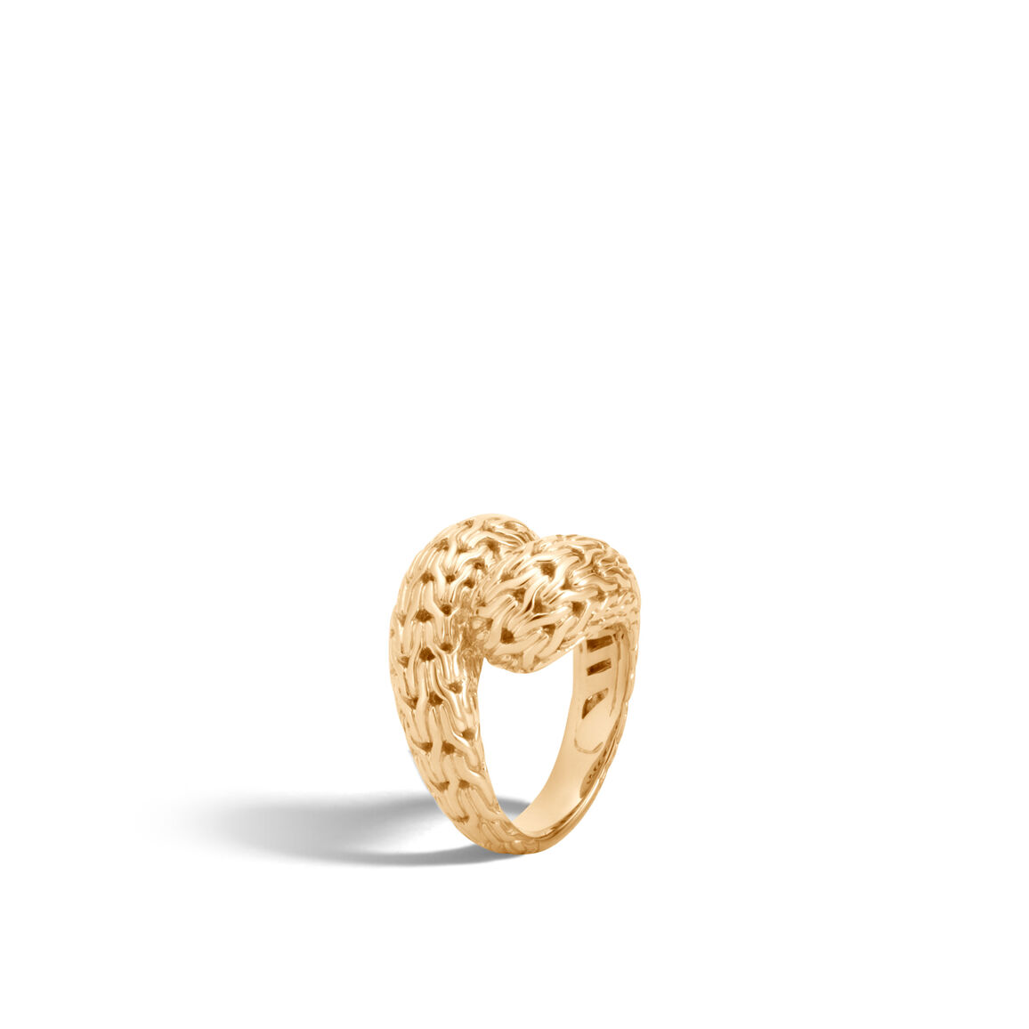 Classic Chain Bypass Ring in 18K Gold