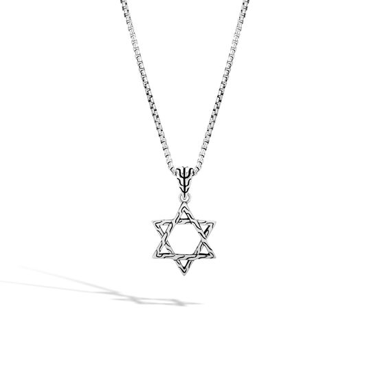Classic Chain Star of David Pendant in Silver, , large