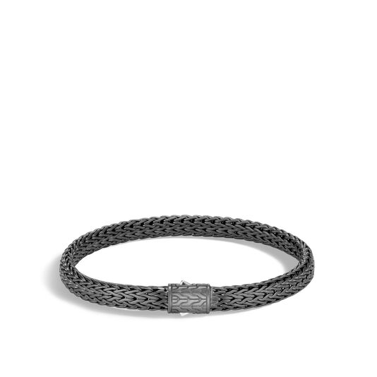 Classic Chain 6.5MM Bracelet in Blackened Silver, , large