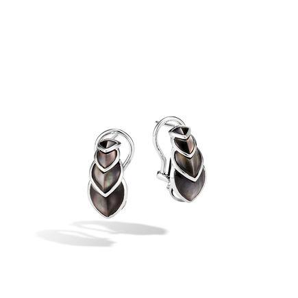Legends Naga Buddha Belly Earring in Silver with Gemstone