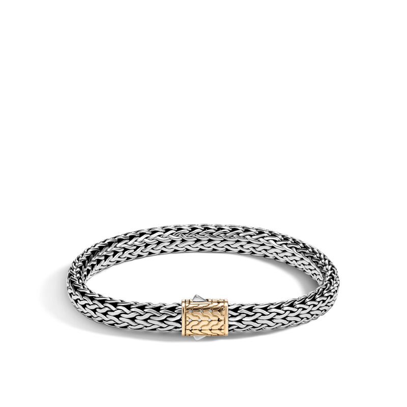 Classic Chain 7.5MM Bracelet in Silver and 18K Gold, , large