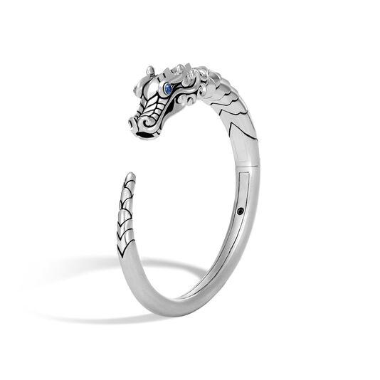 Legends Naga Kick Cuff in Brushed Silver, Blue Sapphire, large