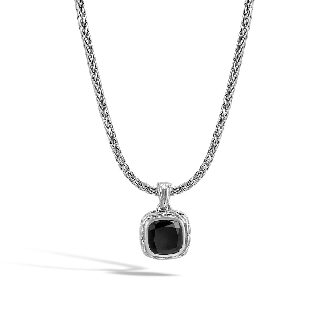 Classic Chain Magic Cut Pendant Necklace, Silver, 8MM Gem