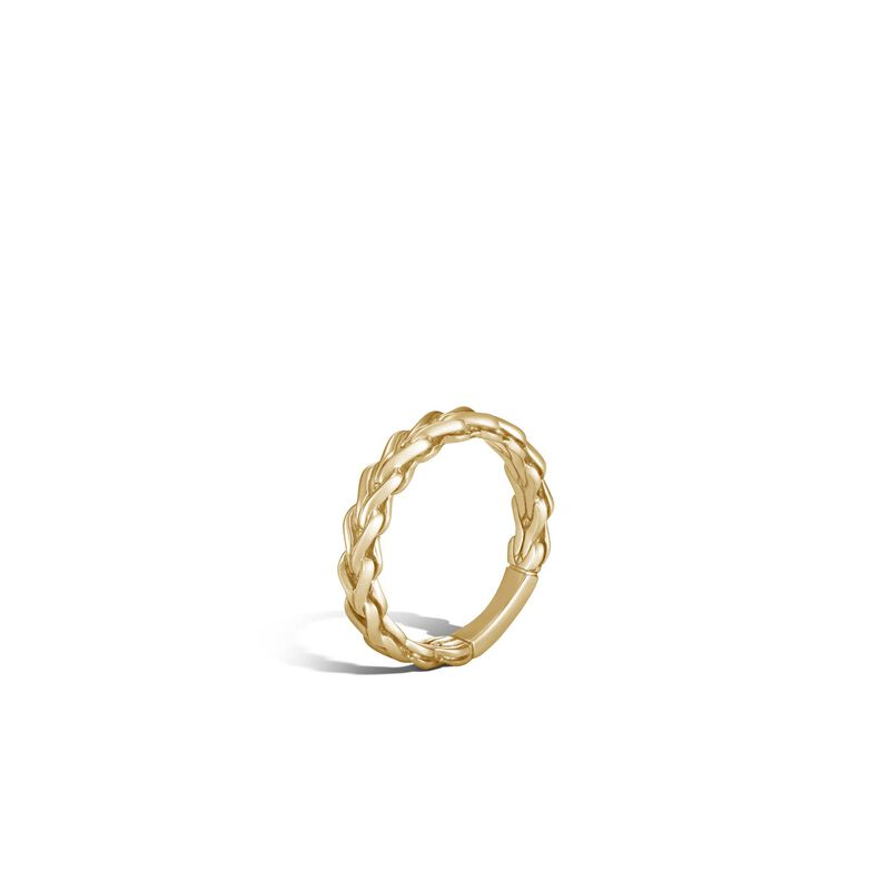 Asli Classic Chain Link 4MM Band Ring in 18K Gold, , large