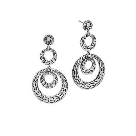 Classic Chain Triple Drop Earring in Silver