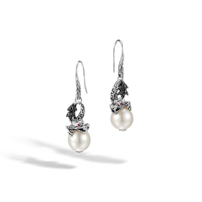 e9397e57f Legends Naga Drop Earring in Silver, 11MM Pearl, Gemstone, Ruby, large