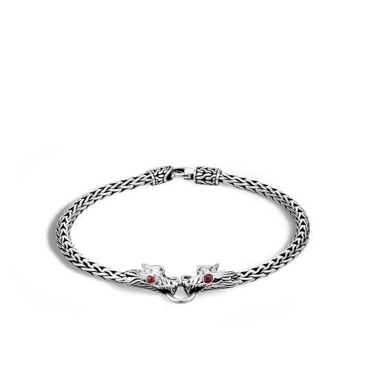 Legends Naga 3.5MM Station Bracelet in Silver, Ruby, large
