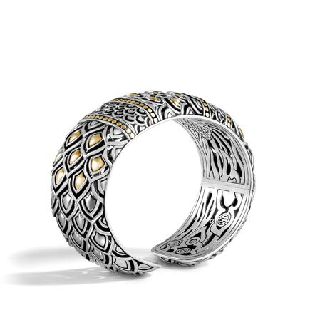Legends Naga 25MM Kick Cuff in Silver and 18K Gold