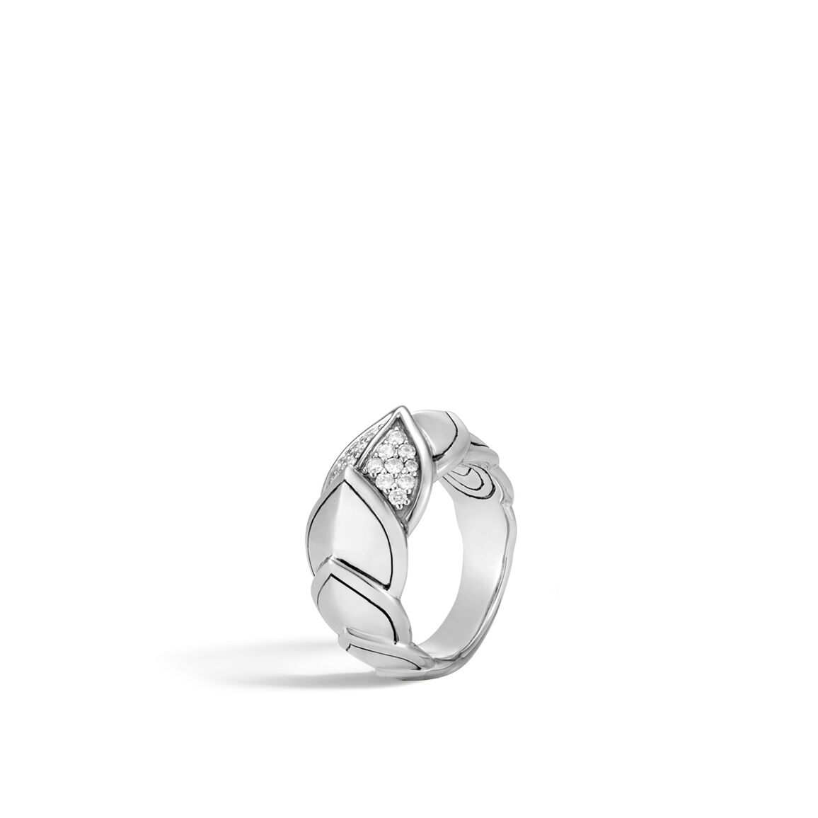 Legends Naga 11.5MM Ring in Silver with Diamonds
