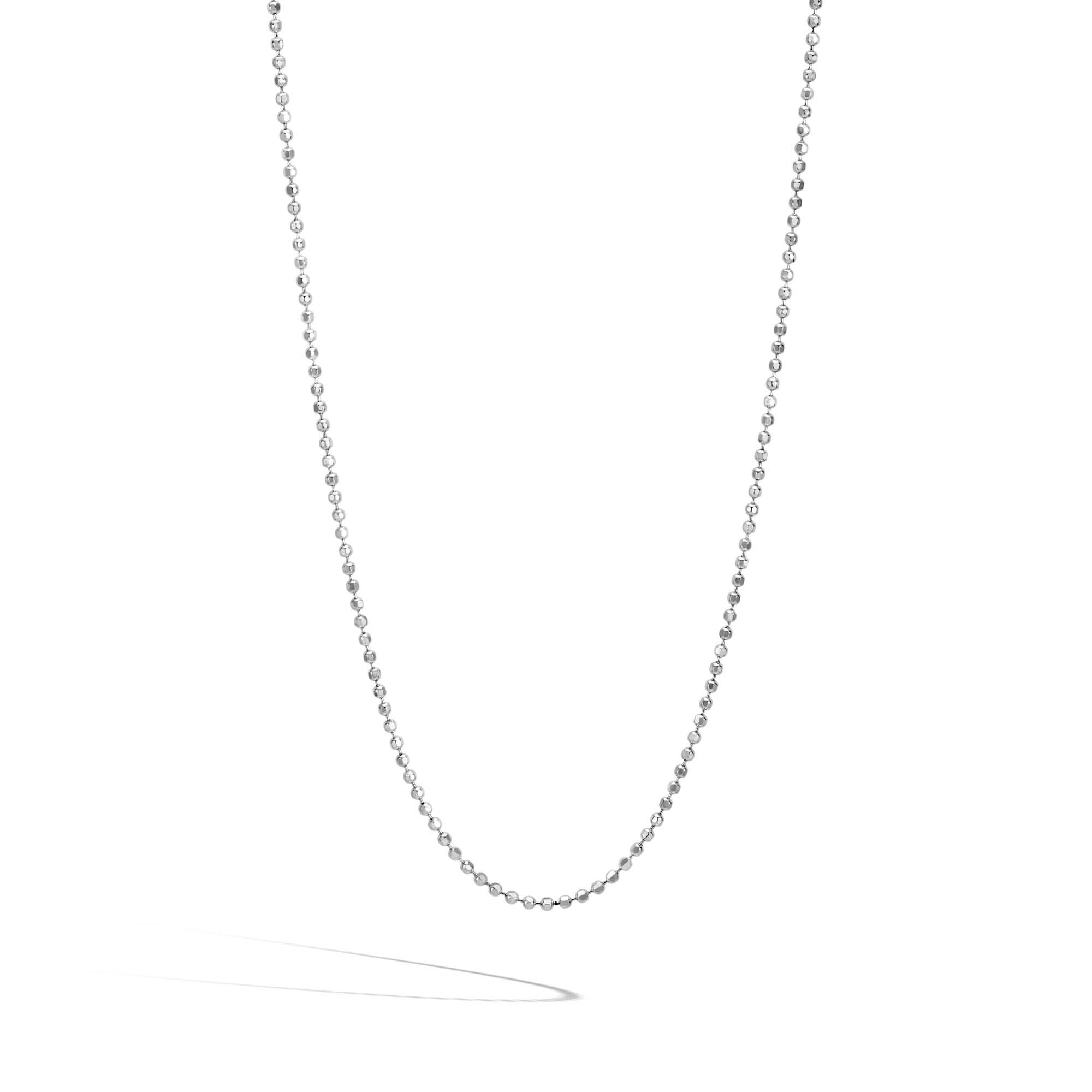 Classic Chain 2MM Ball Necklace in Silver, , large