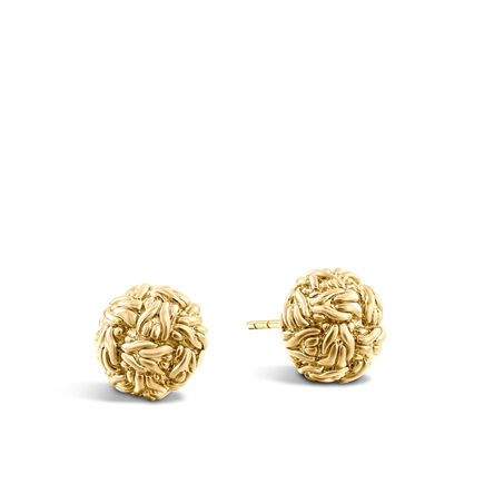 Classic Chain Stud Earring in 18K Gold