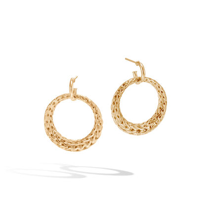 Classic Chain Drop Earring in 18K Gold