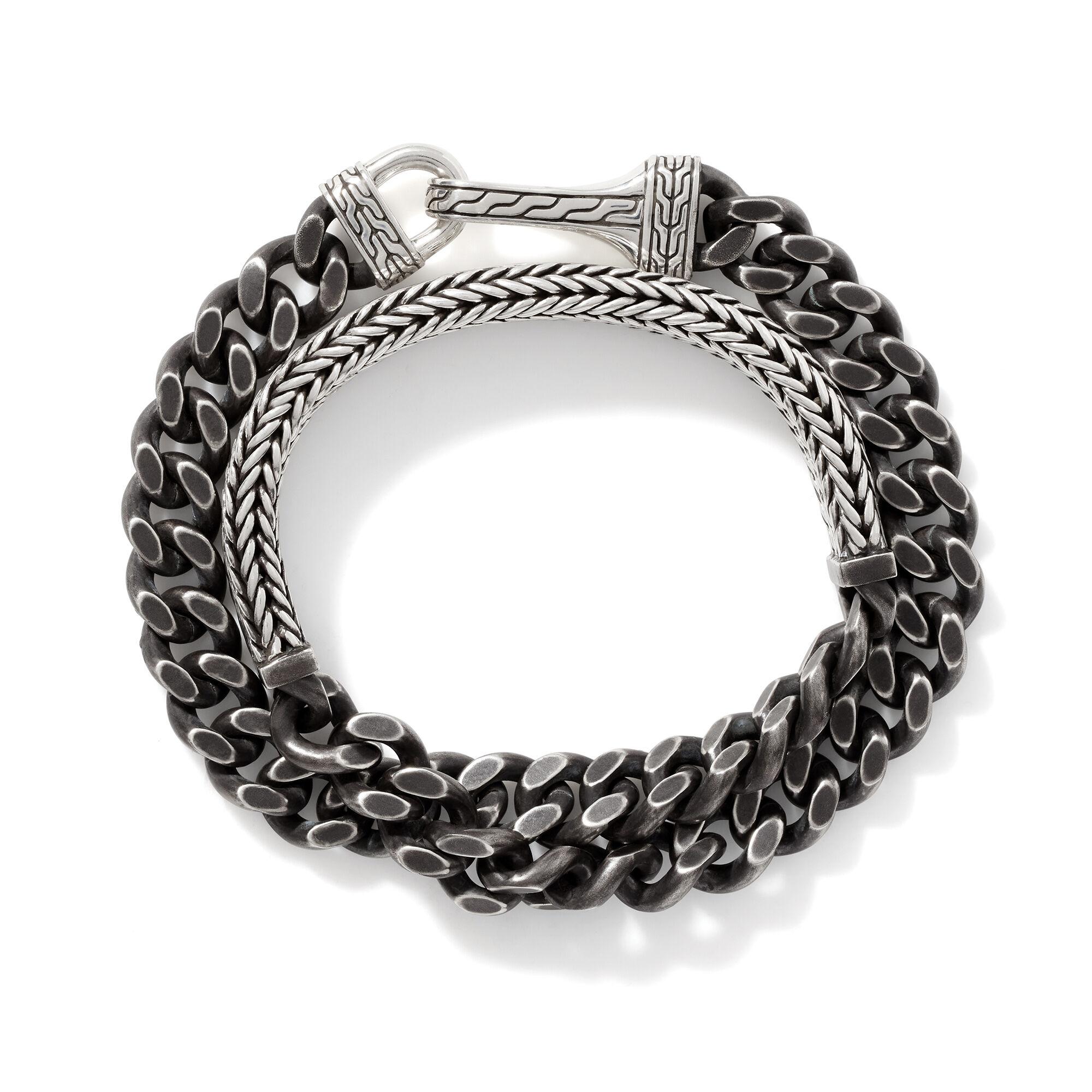Rata Chain Curb Wrap Bracelet, , large
