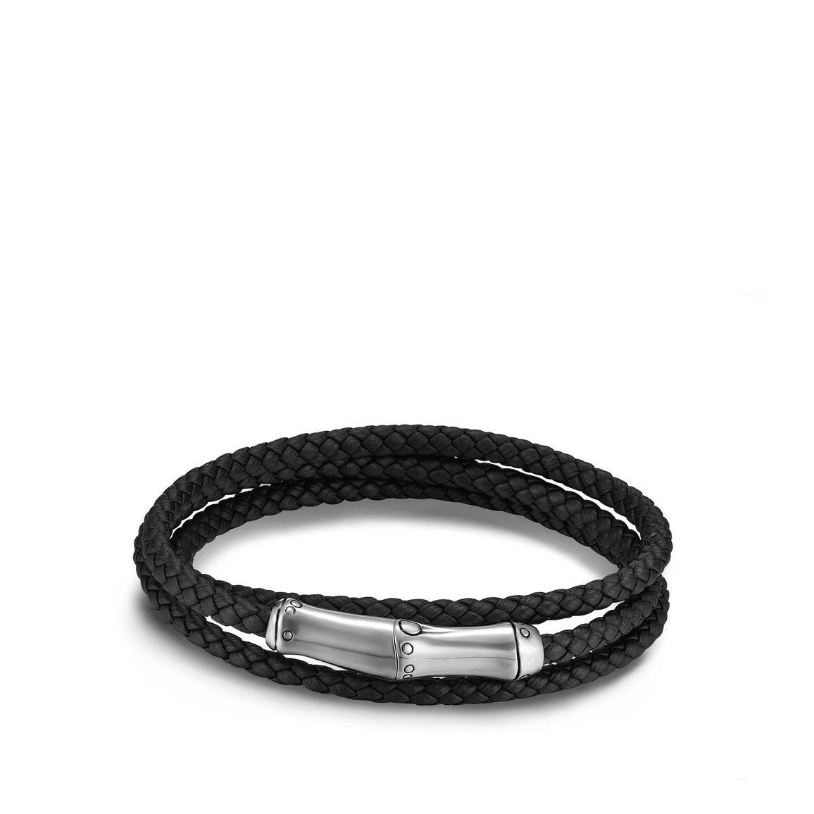 Bamboo Wrap Bracelet In Silver