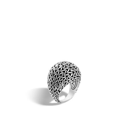 Classic Chain 21MM Dome Ring in Silver