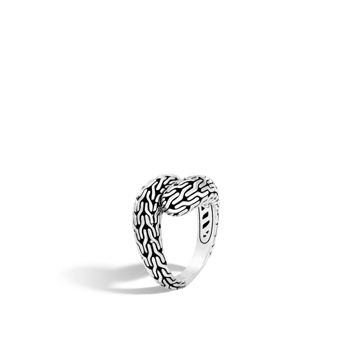 Classic Chain Bypass Ring in Silver