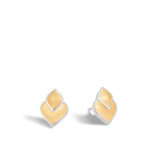 Legends Naga Stud Earring in Silver and 18K Gold, , large