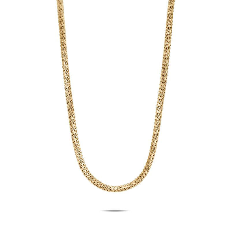 Tiga Classic Chain 6.5MM Necklace in 18K Gold, , large