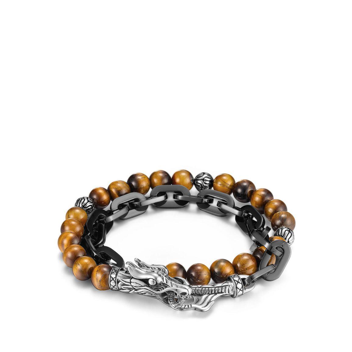 Legends Naga Wrap Bracelet, Silver, Stainless Steel, Gems