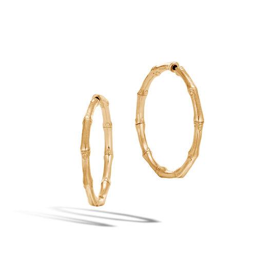 Bamboo Medium Hoop Earring In 18k Gold Large