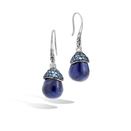 Classic Chain Celestial Orb Drop Earring, Silver, Gemstone