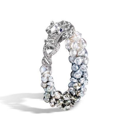 Cinta Legends Naga Trilogy Sky Bracelet in 18K White Gold