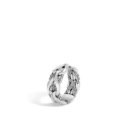 Asli Classic Chain Link 10MM Band Ring in Silver