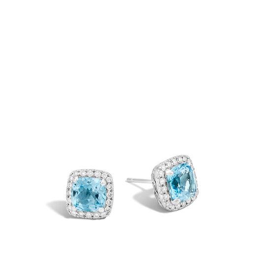 Classic Chain Magic Cut Stud Earring, Silver, Gems, Diamonds, , large
