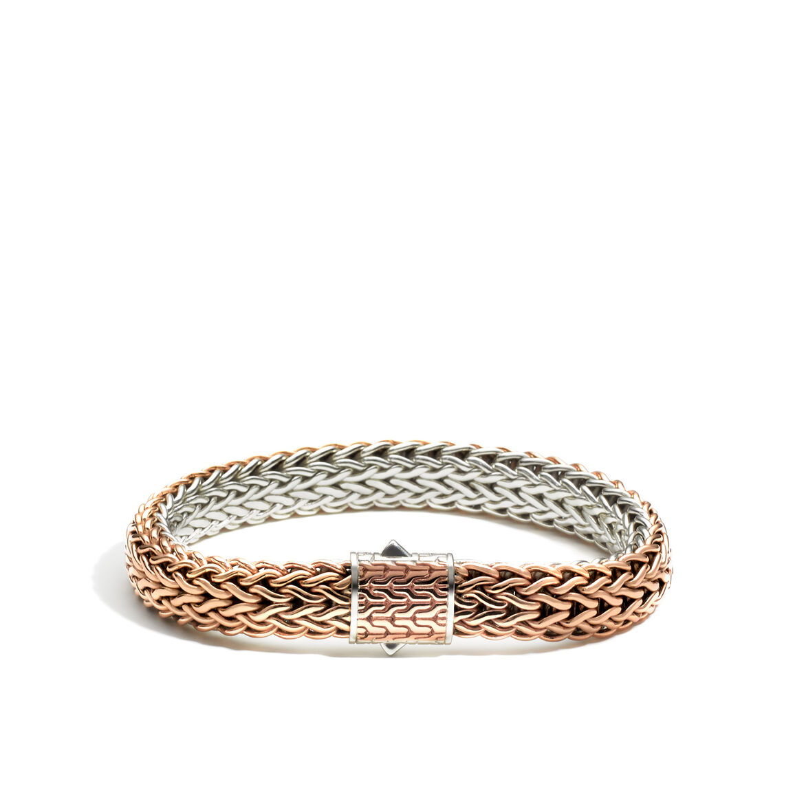 Classic Chain 11MM Reversible Bracelet in Silver and Bronze