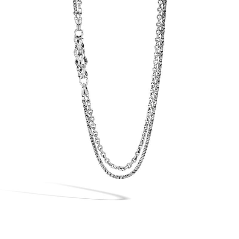 Asli Classic Chain Link Transformable Long Necklace, Silver, , large
