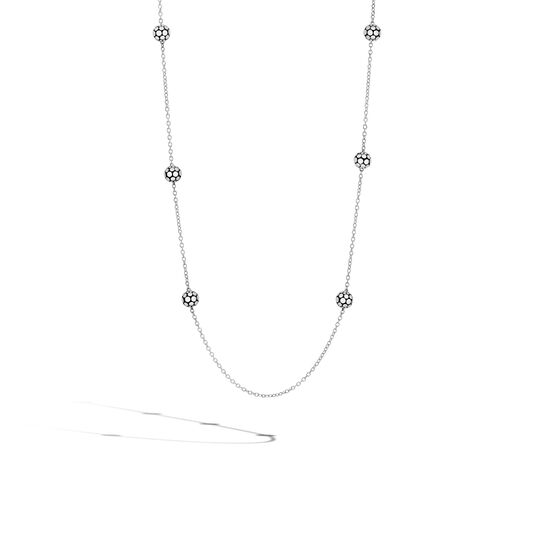 Dot 4MM Station Necklace in Silver, , large