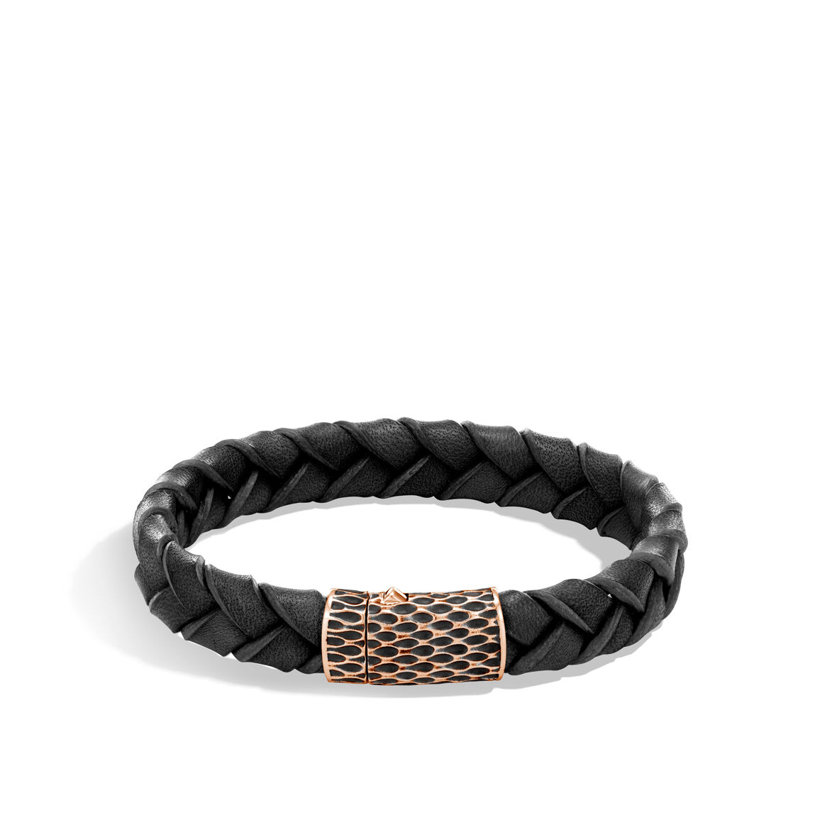 Legends Naga 12MM Station Bracelet, Bronze and Leather