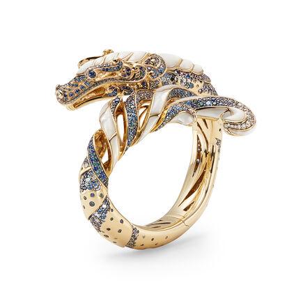 Cinta Legends Naga Trilogy Ocean Cuff in 18K Gold