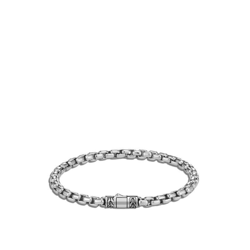 4.8MM Box Chain Bracelet in Silver, , large