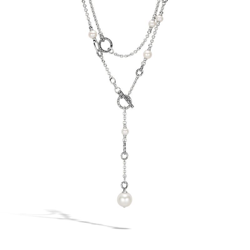 """Pearl 72"""" Transformable Sautoir Necklace, White Fresh Water Pearl, large"""