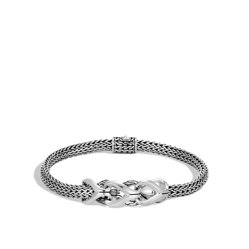 Asli Classic Chain Link 5MM Station Bracelet in Silver, , large
