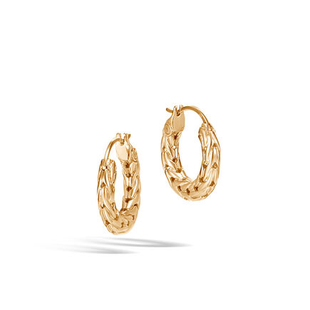 Classic Chain Extra Small Hoop Earring in 18K Gold