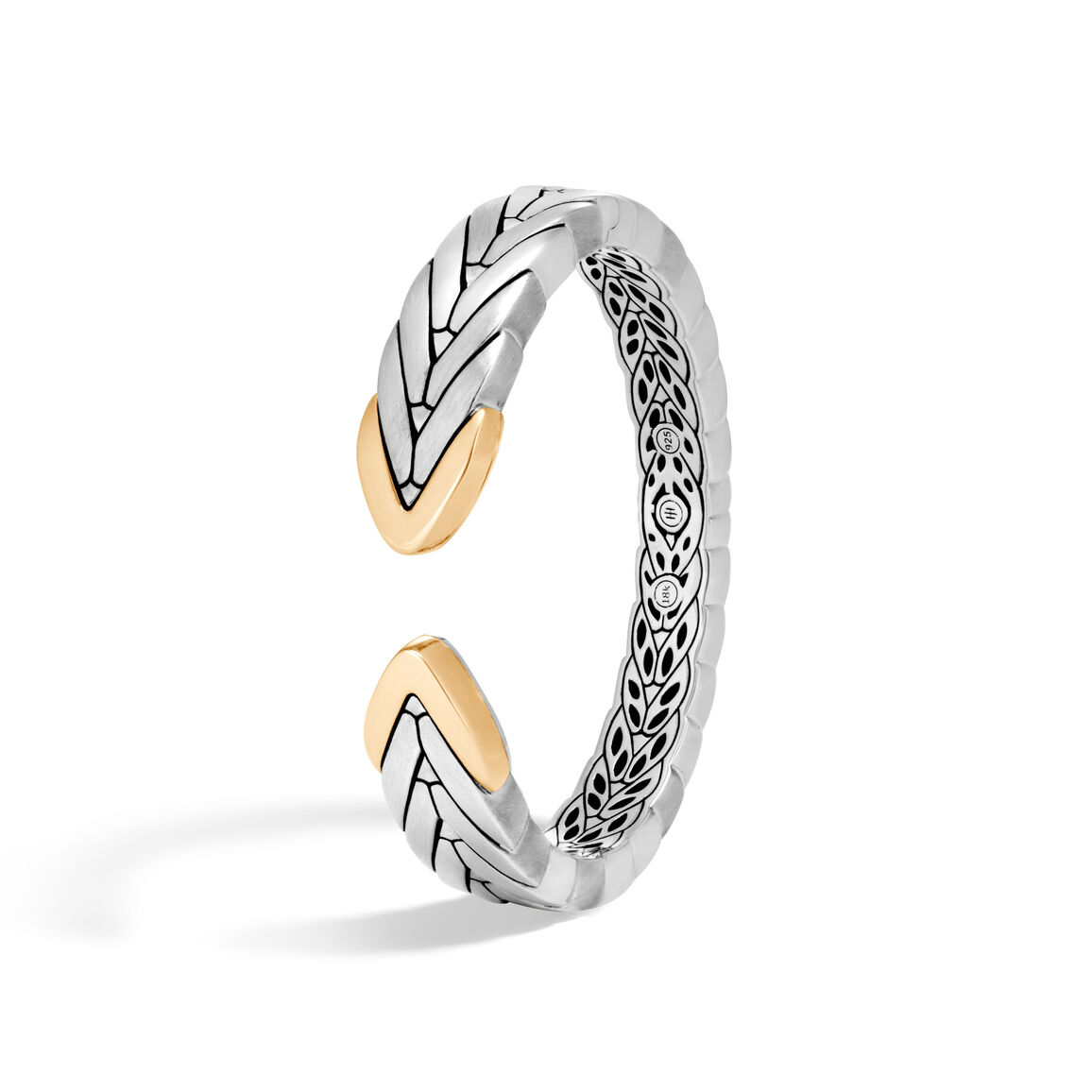 Modern Chain 14MM Kick Cuff in Brushed Silver and 18K Gold